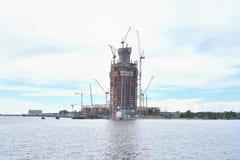 Under construction skyscraper Lakhta Center. Royalty Free Stock Image