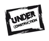 Under construction stamp Royalty Free Stock Photography