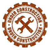 Under construction stamp Royalty Free Stock Images