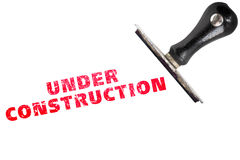 Under construction stamp text Stock Photography