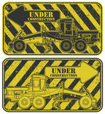 Under construction stamp Royalty Free Stock Photos