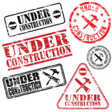 Under Construction Stamps Royalty Free Stock Image
