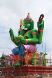 Under construction statue of Ganesha Stock Photography