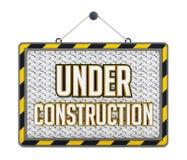 Under construction steel plate stock illustration