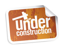 Under construction sticker Stock Image