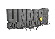 Under construction stone Royalty Free Stock Image