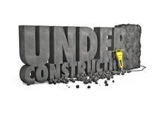 Under construction stone Royalty Free Stock Image