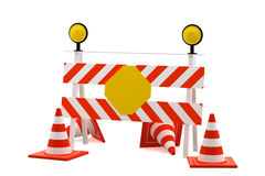 Under construction stop sign Royalty Free Stock Images