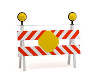 Under construction stop sign Royalty Free Stock Photo