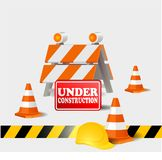 Under construction symbol. Vector icon or symbol sign Royalty Free Stock Photography