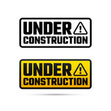 Under construction design, website development design, illustration. Under construction tag, website development design, vector illustration Stock Images