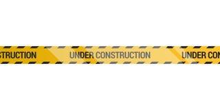 Under construction tape. On a white background, Vector illustration stock illustration