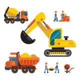 Under construction technic vector illustration Royalty Free Stock Photo