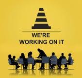 Under Construction Technical Problems Progress Concept Stock Image