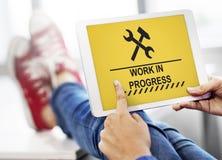 Under Construction Technical Problems Progress Concept Stock Photos