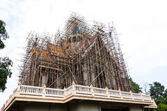 Under construction temple. That is faith for folk people royalty free stock photography