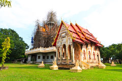 Under construction temple. That is faith for folk people royalty free stock photo
