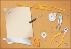 Under construction - tools background- stock illustration