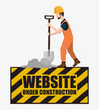 Under construction and tools Stock Photos