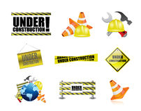 under construction tools icon set illustration Royalty Free Stock Photos