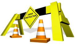 Under construction traffic block Stock Photography