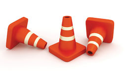 Under Construction Traffic Cone. Traffic Cone Hurdles for signaling the people in construction works. Be careful vector illustration