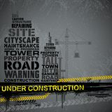 Under Construction Typography Royalty Free Stock Photos