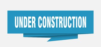 Under construction. Sign.  paper origami speech bubble.  tag.  banner stock illustration
