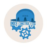 Under construction vector concept Royalty Free Stock Image