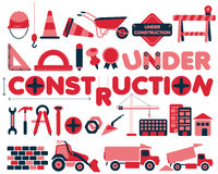 Under construction vector icons set Stock Photography