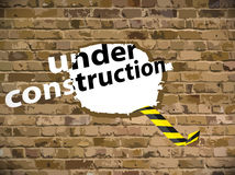 Under construction vector illustration Royalty Free Stock Images