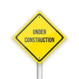 Under Construction Vector Road Sign Background. Website Maintana Stock Image
