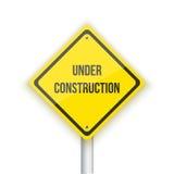 Under Construction Vector Road Sign Background. Website Maintana Stock Image