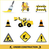 Under construction vector set Royalty Free Stock Images