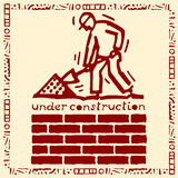 Under construction wall red Royalty Free Stock Image