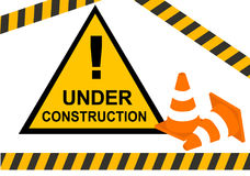 Under construction warning. Conceptual maintenance and under construction Stock Photo