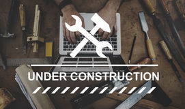 Under Construction Warning Sign Icon Concept Stock Photo