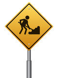 Under construction warning sign Royalty Free Stock Photography