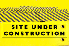 Under construction web page or website banner Royalty Free Stock Photo