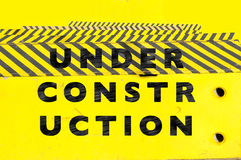 Under construction web page or website banner Royalty Free Stock Photography