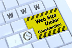 Under construction website Royalty Free Stock Photo