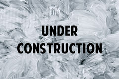 Under construction - white brush marks on the glass Royalty Free Stock Photo