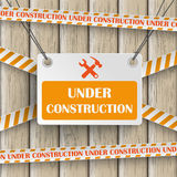 Under Construction Wood Stock Images