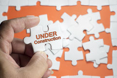 Under Construction Word Royalty Free Stock Photo