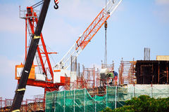 Under Construction with Worker Royalty Free Stock Image