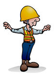 Under construction worker. Illustration of an under construction worker  over isolated white background Stock Image