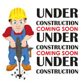 Under Construction Worker Royalty Free Stock Photo