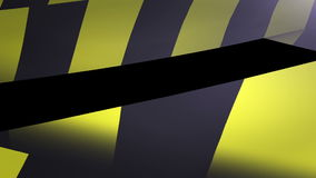 Under construction Yellow and Black Caution tape. stock footage