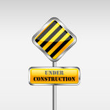 Under Construction Yellow Sign Royalty Free Stock Image