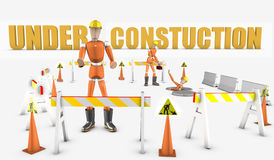 Under constuction Royalty Free Stock Photos